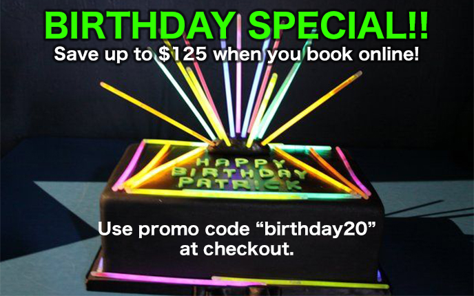 Birthday Special Pricing
